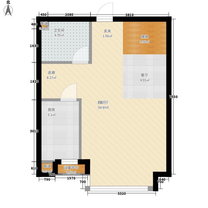 圣罗伦斯66.00㎡圣罗伦斯户型图C户型1层3室2厅2卫户型3室2厅2卫