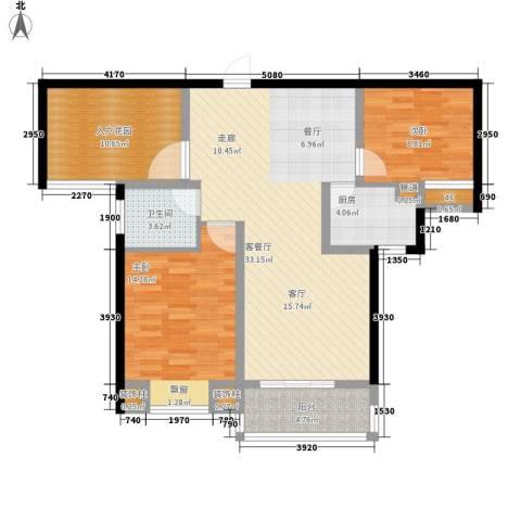 水云间2室1厅1卫1厨98.00㎡户型图