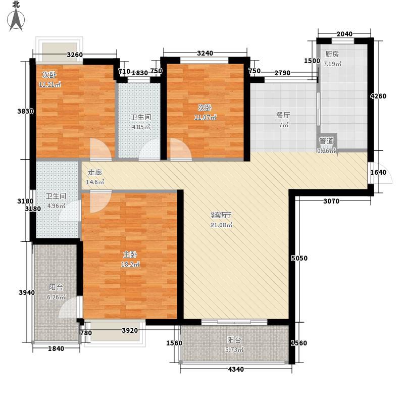 长航蓝晶国际137.65㎡一期A5户型3室2厅