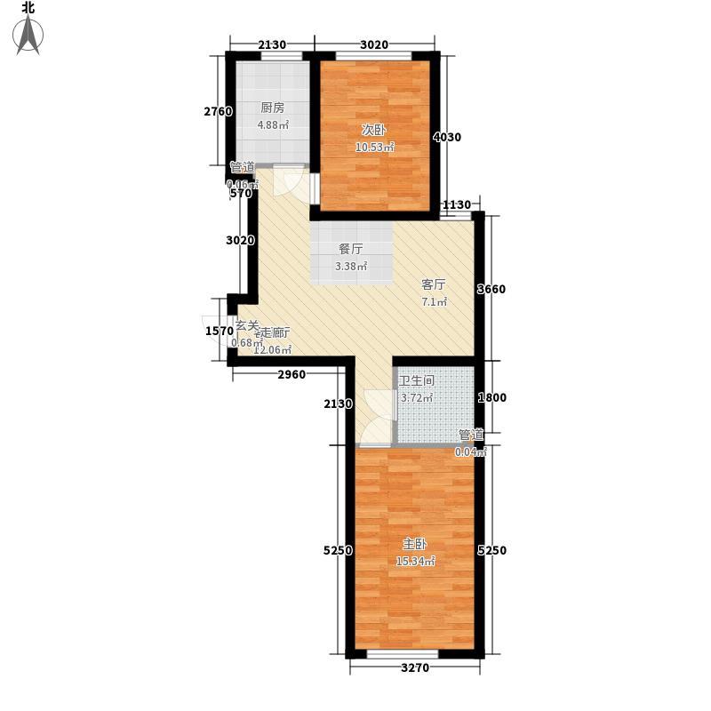 圣罗伦斯75.00㎡圣罗伦斯户型图b户型2室2厅1卫1厨户型2室2厅1卫1厨