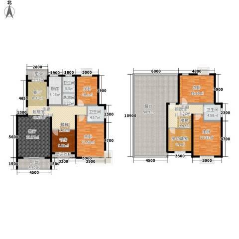 金桥慧景5室0厅3卫1厨220.21㎡户型图