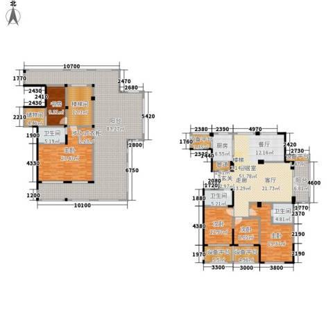 得力浅水湾5室0厅3卫1厨276.67㎡户型图