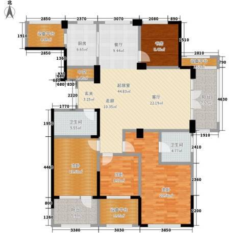 得力浅水湾4室0厅2卫1厨164.00㎡户型图
