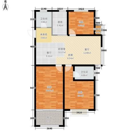 意林小镇3室0厅2卫1厨107.43㎡户型图