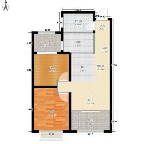 意林小镇2室0厅1卫1厨67.18㎡户型图