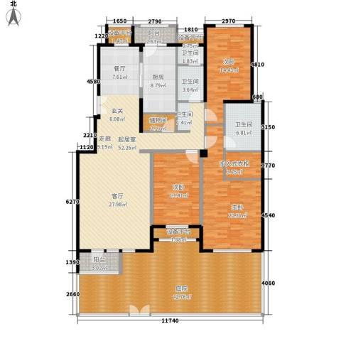 意林小镇3室0厅3卫1厨200.11㎡户型图