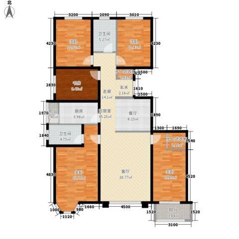 华丽家族5室0厅2卫1厨191.00㎡户型图