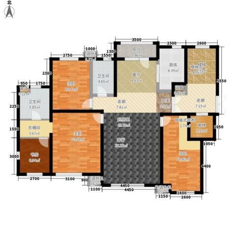 绿地中央墅4室0厅2卫1厨163.00㎡户型图