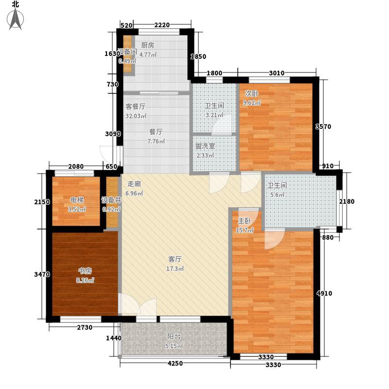 家年华117.74㎡家年华户型图3室2厅2卫1厨户型10室