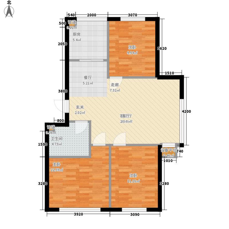 绿色家园87.14㎡绿色家园户型图C户型3室2厅1卫户型3室2厅1卫