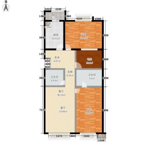 公务员小区(二期)3室1厅2卫1厨158.00㎡户型图