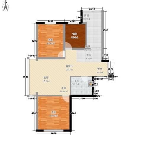 天鸿嘉园3室1厅1卫1厨115.00㎡户型图