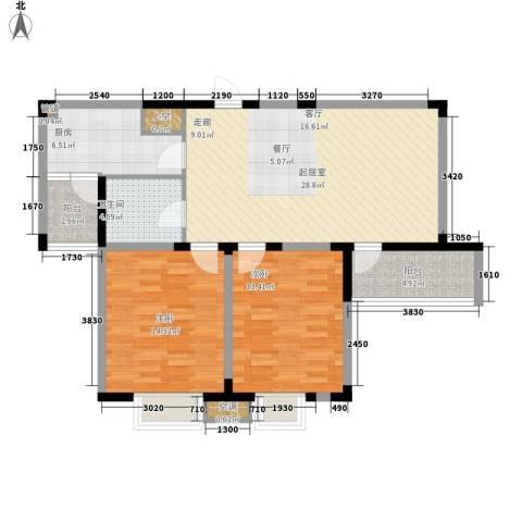 半岛名墅洋房2室0厅1卫1厨203.00㎡户型图