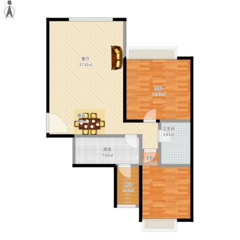 沈阳天地2室1厅1卫1厨110.00㎡户型图