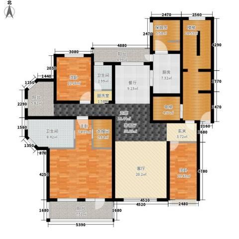 金正君庭3室1厅2卫1厨190.00㎡户型图