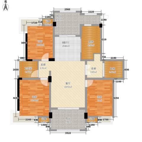 香山听泉3室1厅1卫1厨113.00㎡户型图