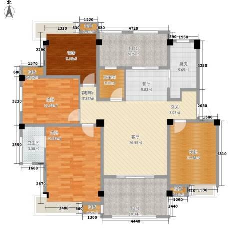 香山听泉4室1厅2卫1厨134.72㎡户型图