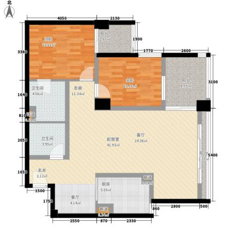 齐盛艺境2室0厅2卫1厨118.00㎡户型图