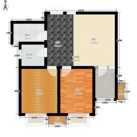儒苑佳园2室0厅1卫1厨85.00㎡户型图