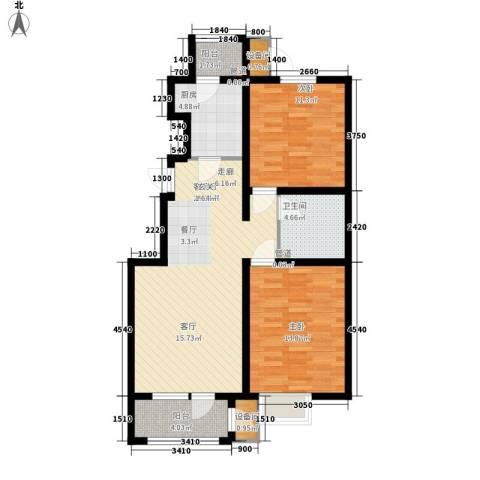 荔隆观邸2室1厅1卫1厨99.00㎡户型图