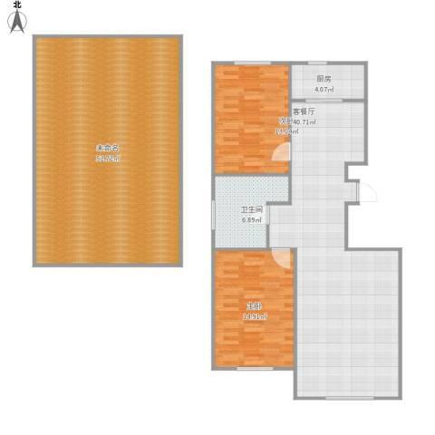 宝地・曼哈顿2室1厅1卫1厨174.00㎡户型图