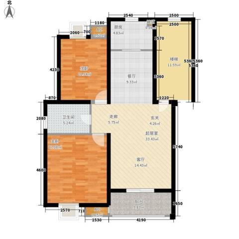 爱丽舍2室0厅1卫1厨88.00㎡户型图