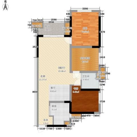 省石油公司宿舍2室1厅1卫1厨113.00㎡户型图