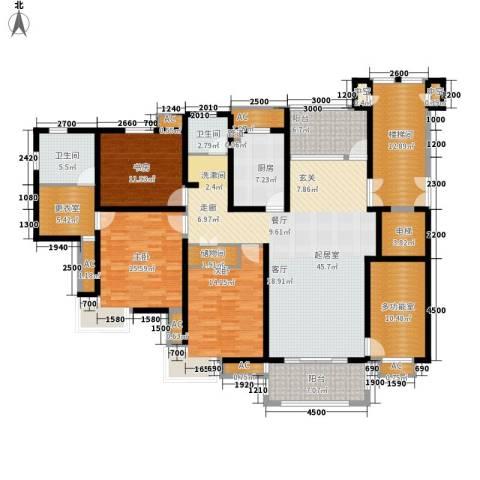 兰亭园3室0厅2卫1厨157.77㎡户型图