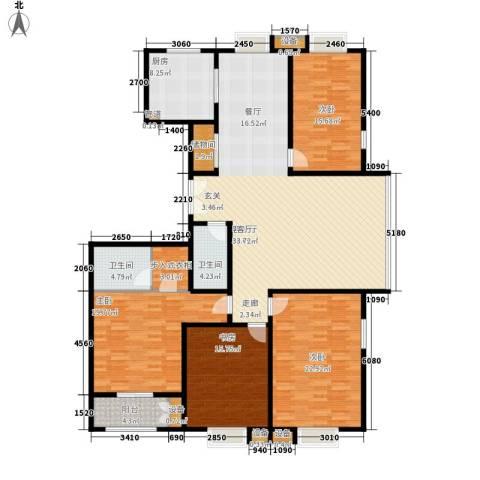 都市广场4室1厅2卫1厨216.00㎡户型图