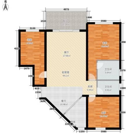 香樟雅郡3室0厅2卫1厨131.00㎡户型图