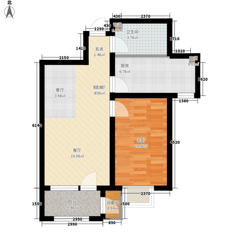 荔隆观邸72.77㎡2-6号楼标准层D3户型