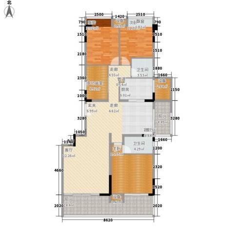 天一名居3室1厅2卫1厨147.00㎡户型图