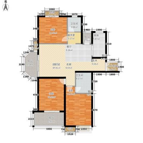 东岸3室0厅2卫1厨142.00㎡户型图