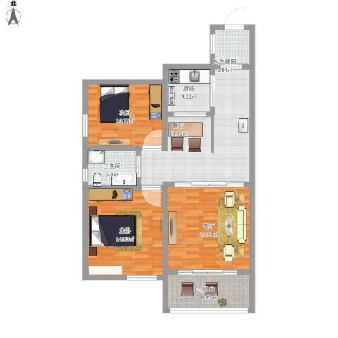 中州国际花园2室2厅1卫1厨112.00㎡户型图