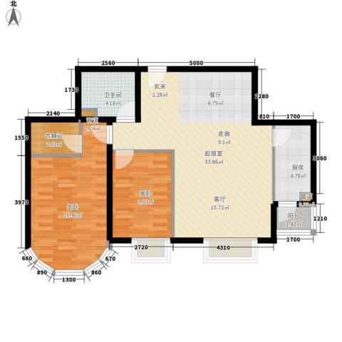 鹿港嘉苑2室0厅1卫1厨106.00㎡户型图