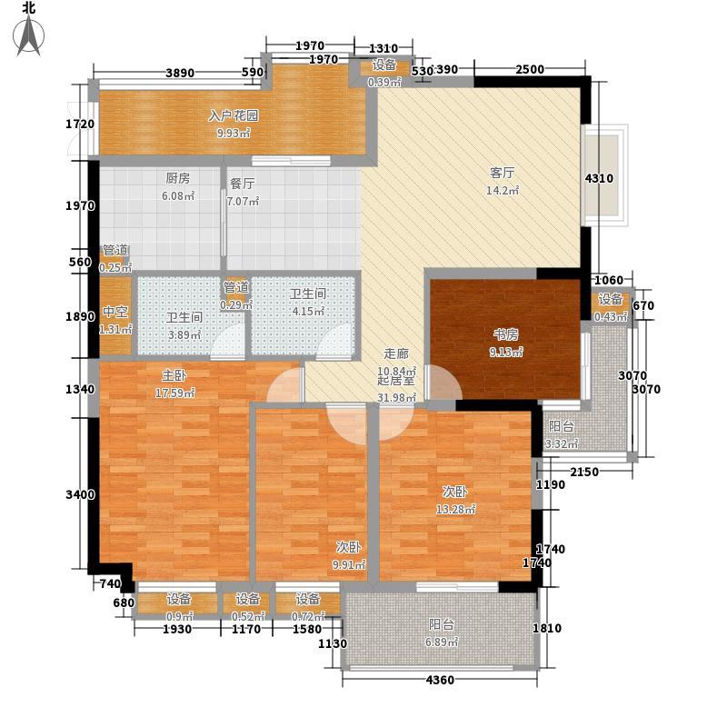 金海园126.80㎡金海园5室户型5室
