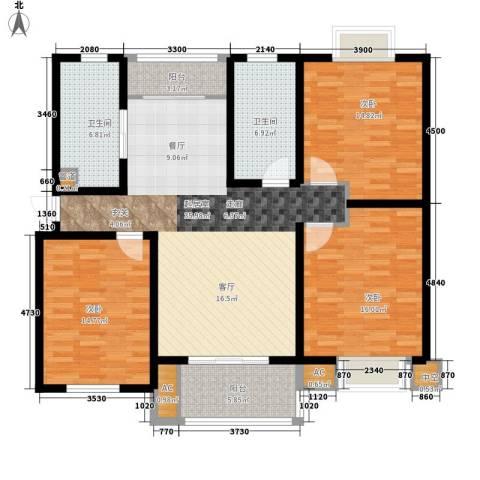 徽州家园3室0厅2卫0厨153.00㎡户型图