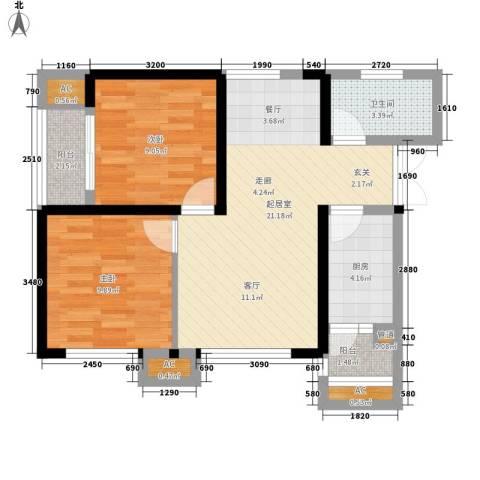 陕西交通职业技术学院家属院2室0厅1卫1厨79.00㎡户型图