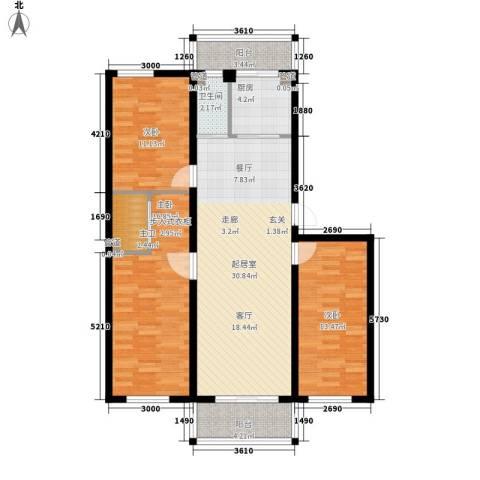 富民花园三期3室0厅1卫1厨121.00㎡户型图