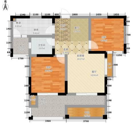 幸福大街2室0厅1卫1厨101.00㎡户型图
