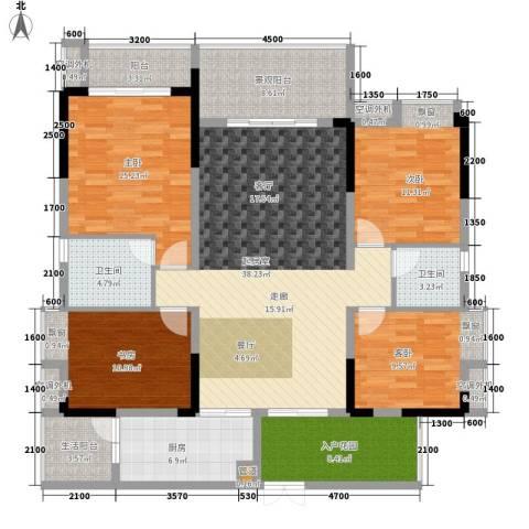 鲁能星城五街区4室0厅2卫1厨180.00㎡户型图