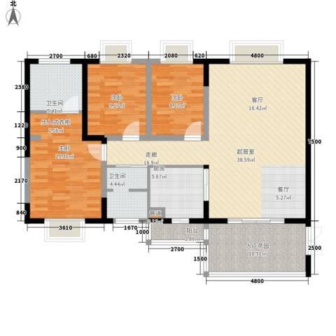 泰和佳园3室0厅2卫1厨128.00㎡户型图