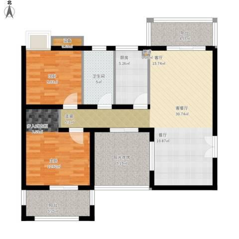 新凯御景湾2室1厅1卫1厨120.00㎡户型图