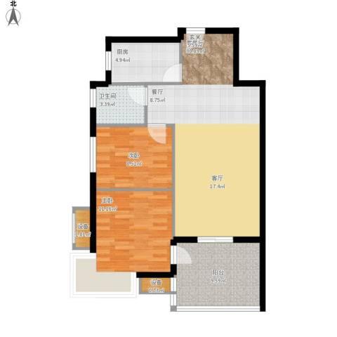 新凯御景湾2室1厅1卫1厨98.00㎡户型图