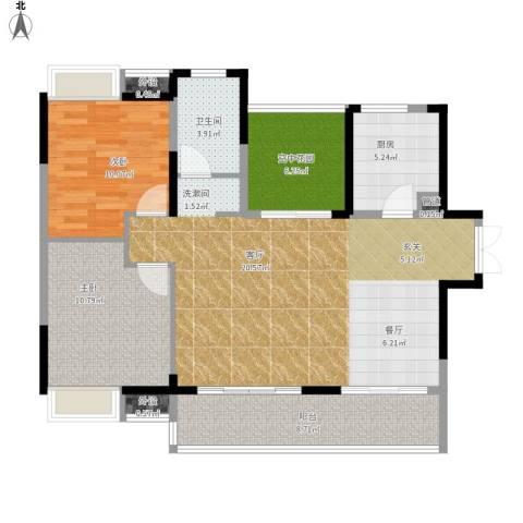 光谷新世界2室1厅1卫1厨112.00㎡户型图