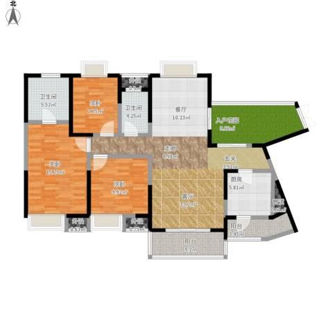 光谷新世界3室1厅2卫1厨152.00㎡户型图