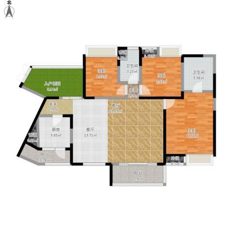 光谷新世界3室1厅2卫1厨157.00㎡户型图