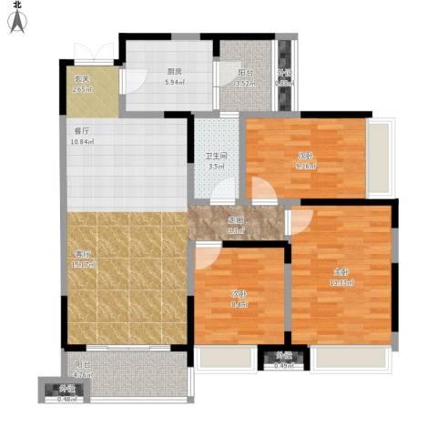 光谷新世界3室1厅1卫1厨118.00㎡户型图
