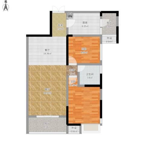 光谷新世界2室1厅1卫1厨104.00㎡户型图