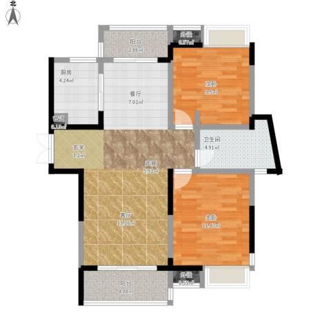 光谷新世界2室1厅1卫1厨97.00㎡户型图